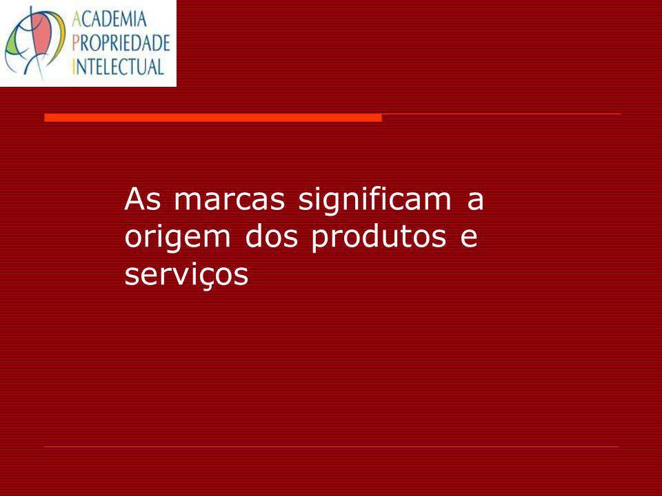 As marcas significam a origem dos produtos e serviços