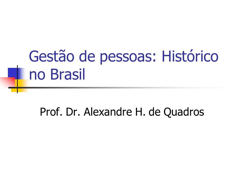 Gestão de pessoas: Histórico no Brasil