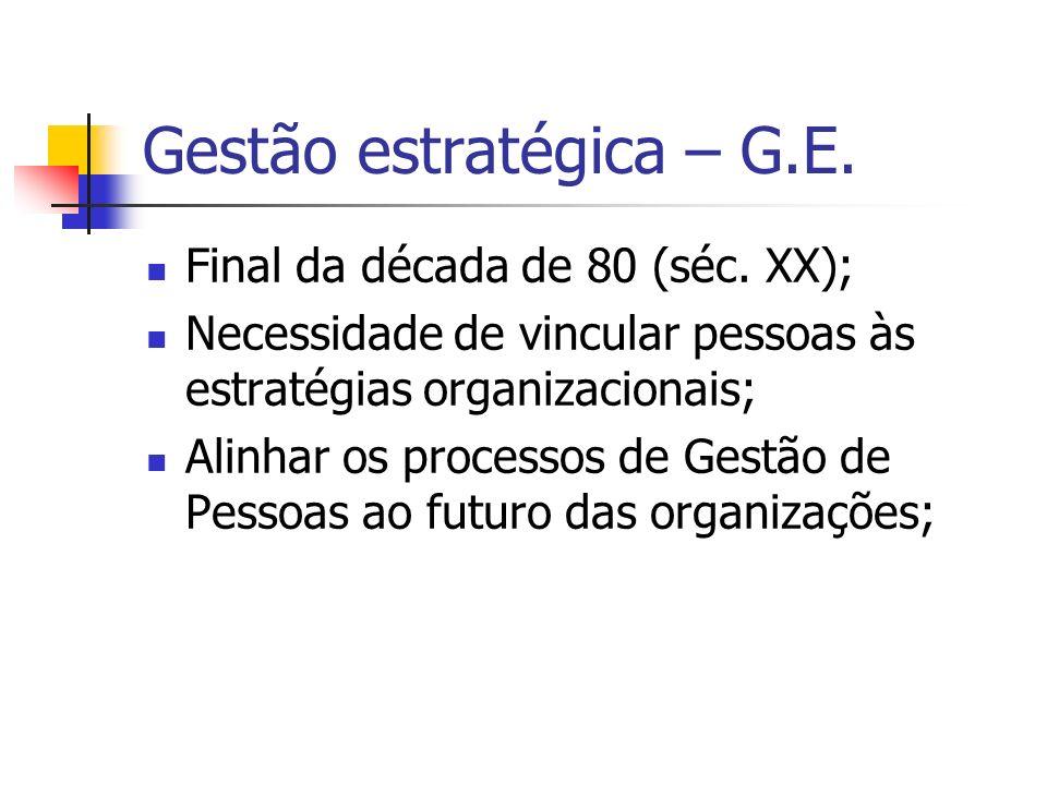 Gestão estratégica – G.E.