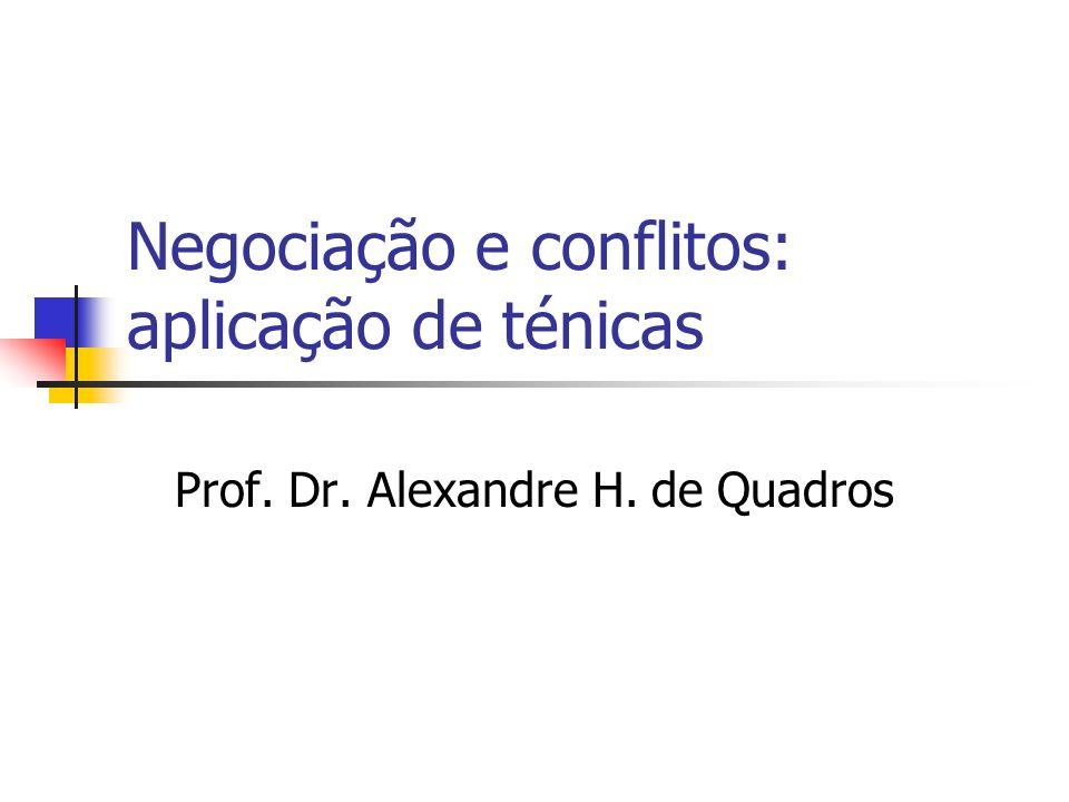 Negociação e conflitos: aplicação de ténicas