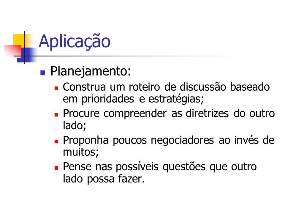 Aplicação Planejamento: