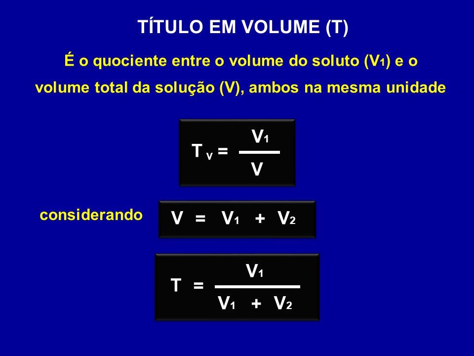 TÍTULO EM VOLUME (T) T = V1 V = V1 V V2 + T = V1 V2 +
