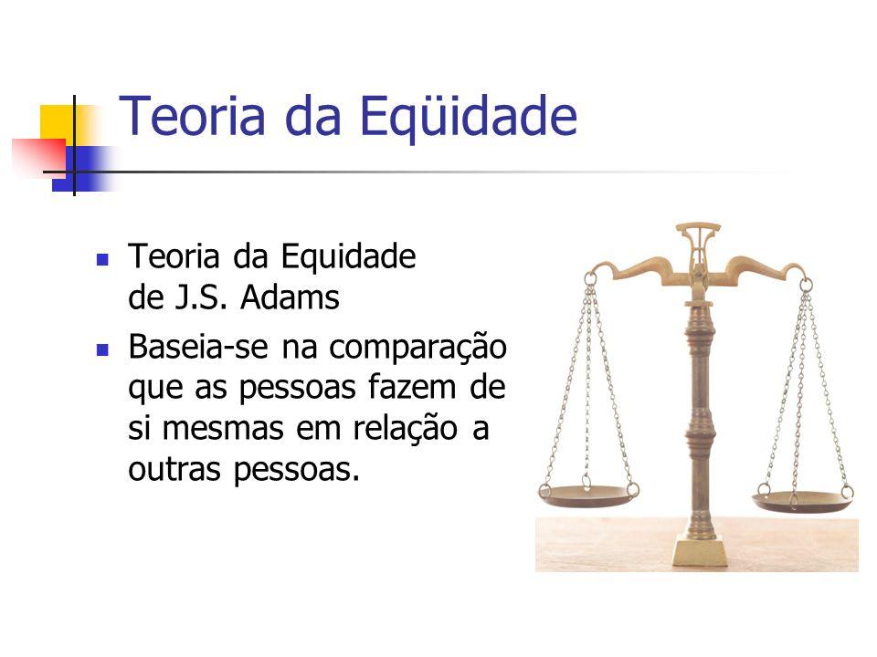 Teoria da Eqüidade Teoria da Equidade de J.S. Adams