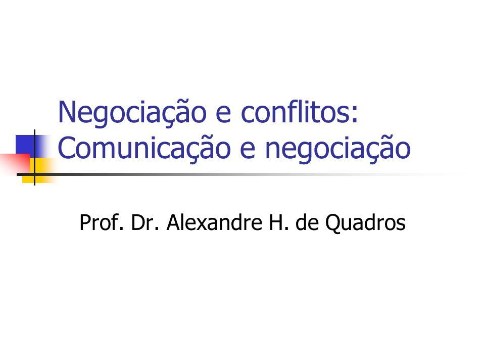 Negociação e conflitos: Comunicação e negociação