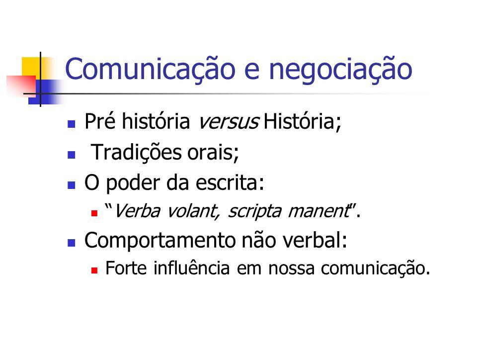 Comunicação e negociação