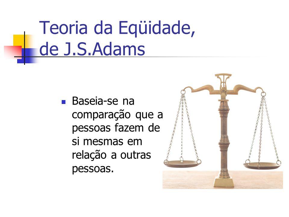 Teoria da Eqüidade, de J.S.Adams