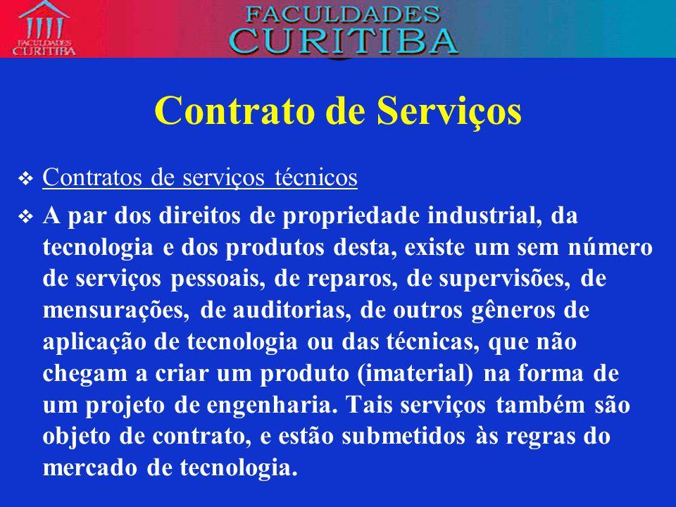 Contrato de Serviços Contratos de serviços técnicos