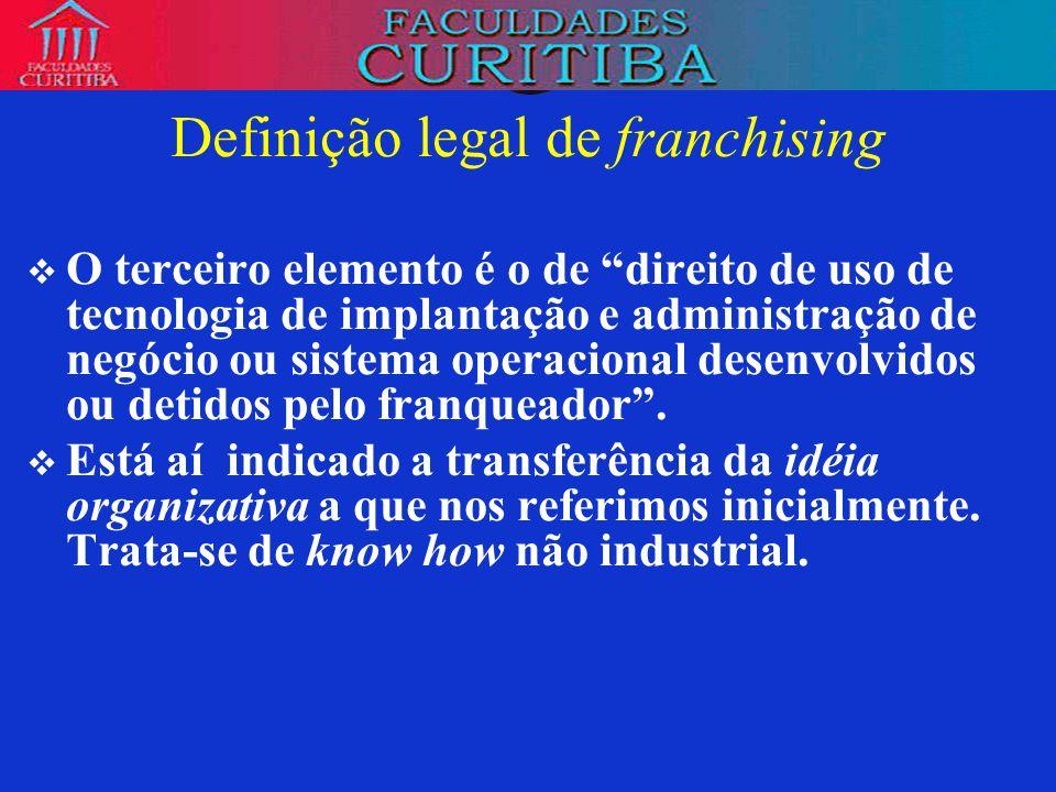 Definição legal de franchising