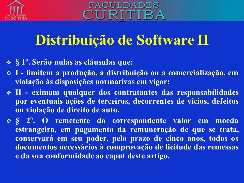 Distribuição de Software II