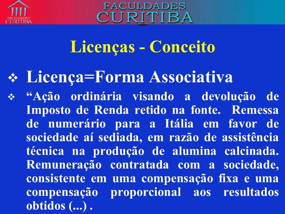 Licença=Forma Associativa