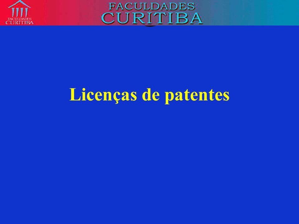 Licenças de patentes