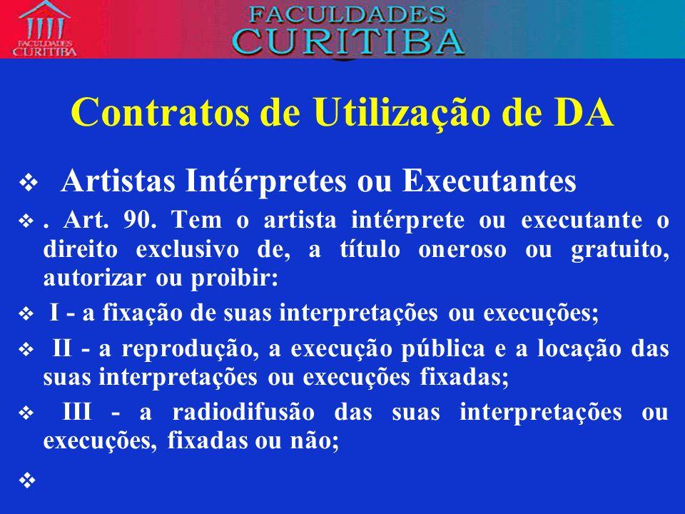 Contratos de Utilização de DA