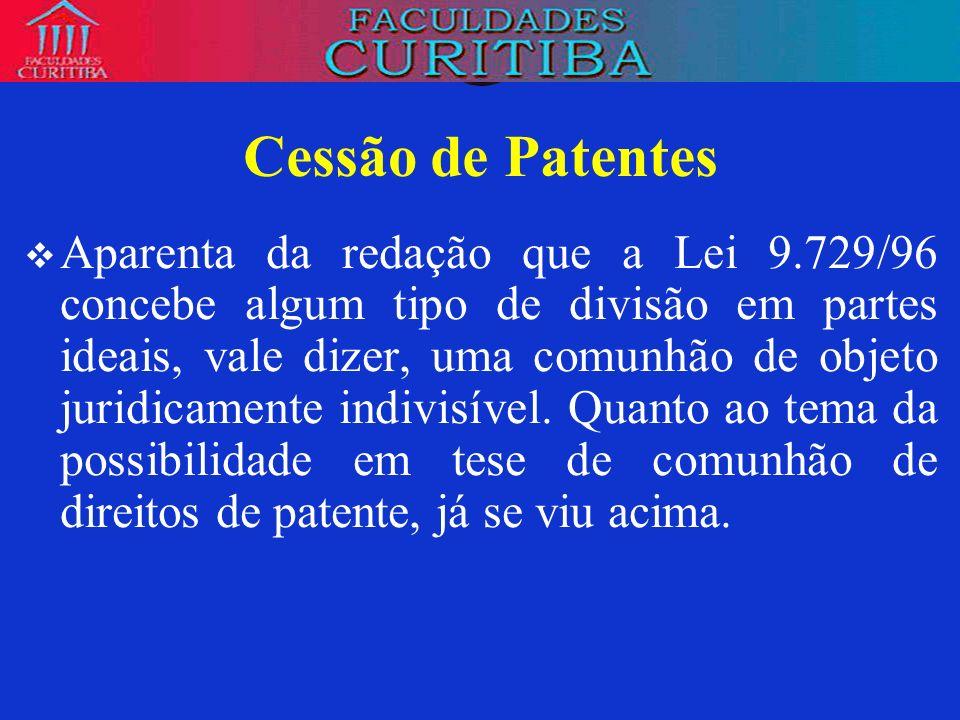 Cessão de Patentes