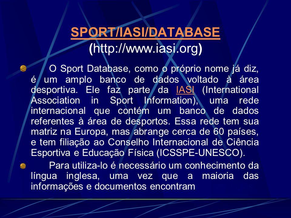 SPORT/IASI/DATABASE (http://www.iasi.org)