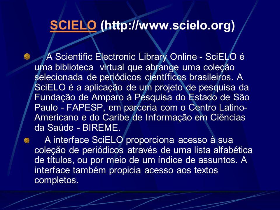 SCIELO (http://www.scielo.org)