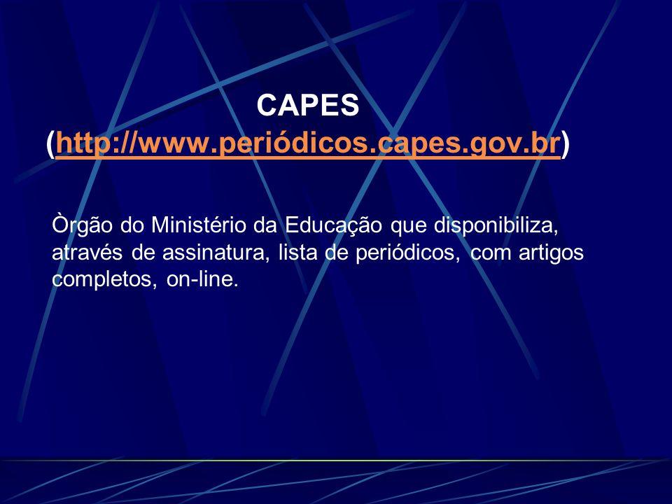 CAPES (http://www.periódicos.capes.gov.br)