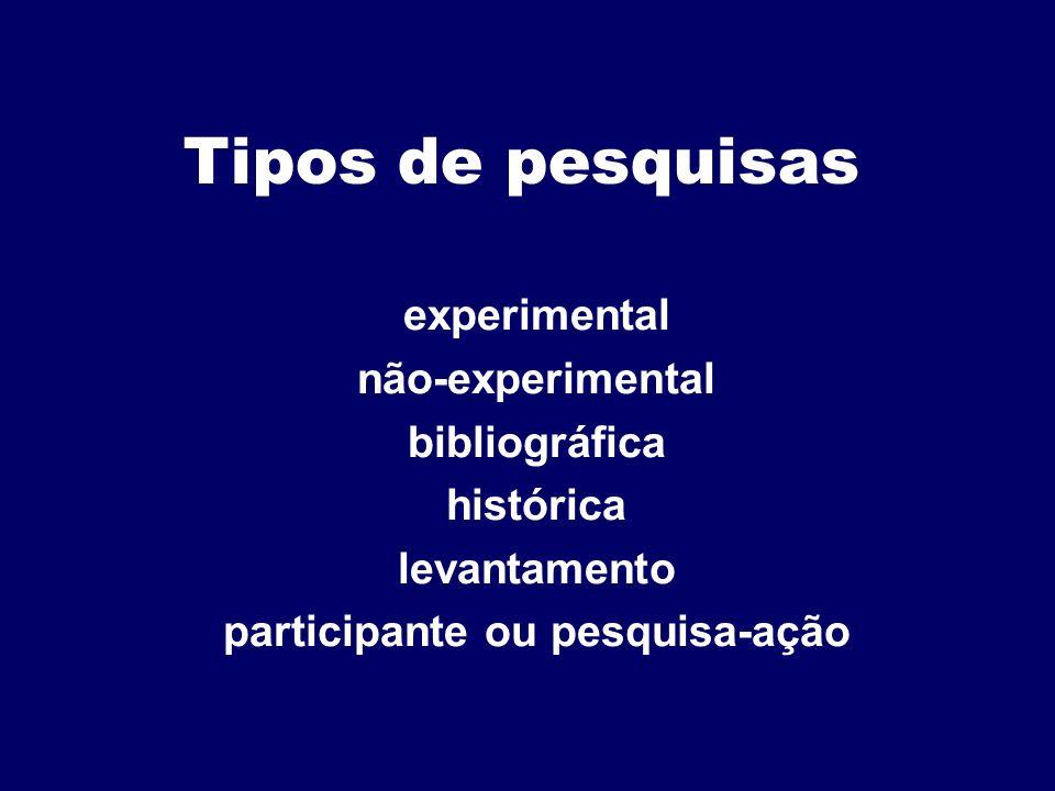 participante ou pesquisa-ação