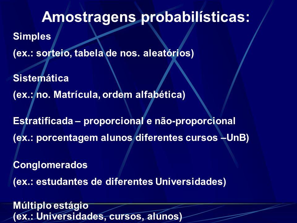Amostragens probabilísticas: