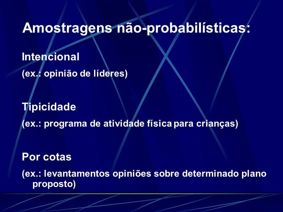 Amostragens não-probabilísticas: