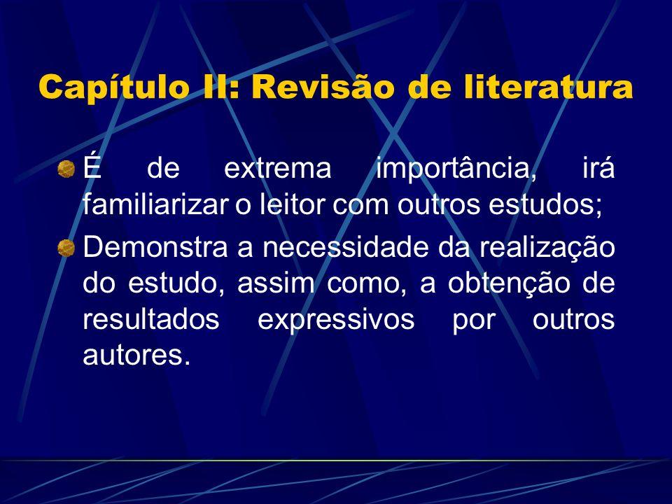 Capítulo II: Revisão de literatura