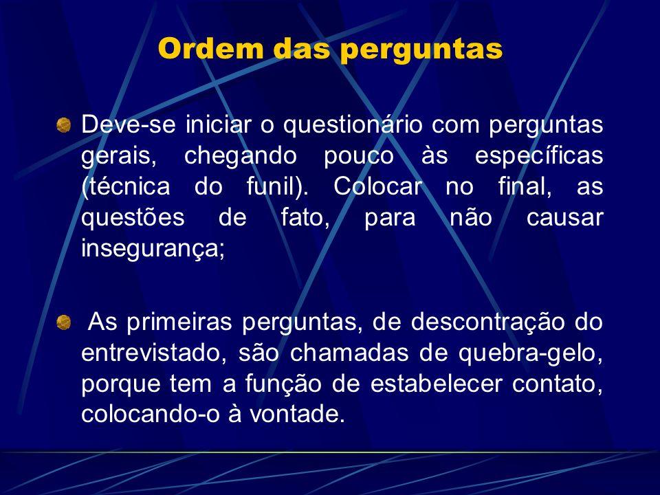 Ordem das perguntas
