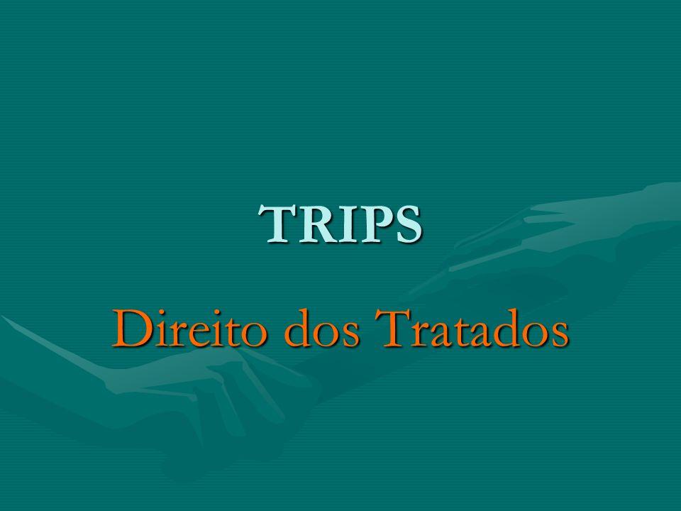 TRIPS Direito dos Tratados