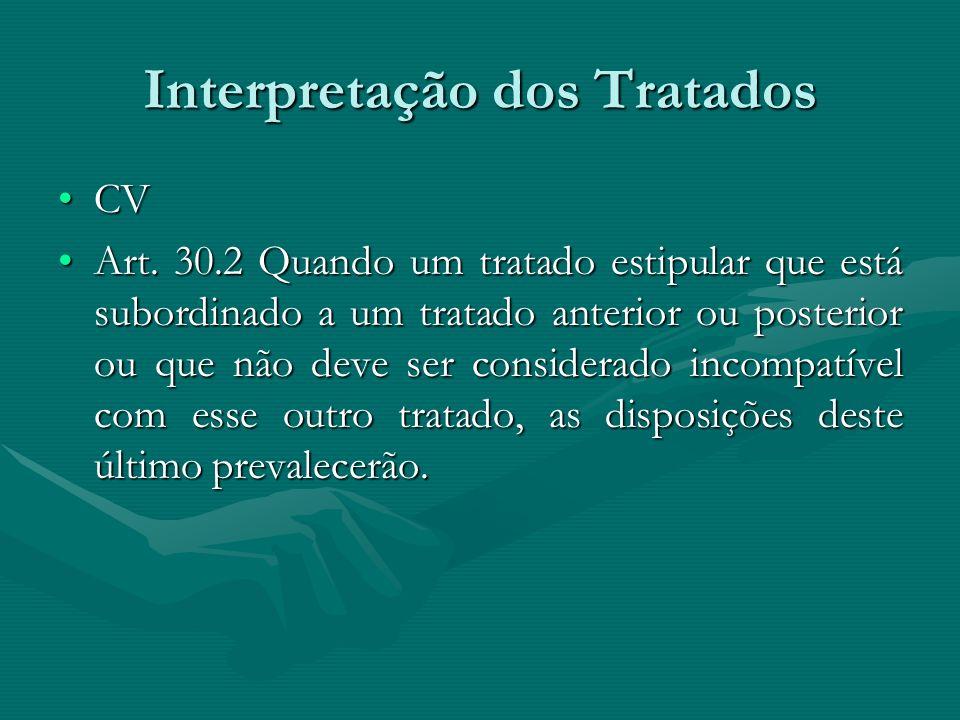 Interpretação dos Tratados