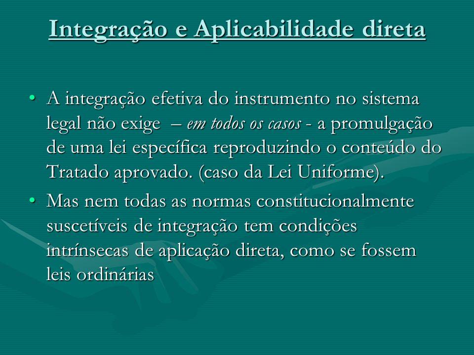 Integração e Aplicabilidade direta