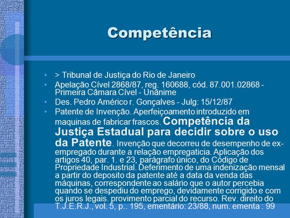 Competência > Tribunal de Justiça do Rio de Janeiro