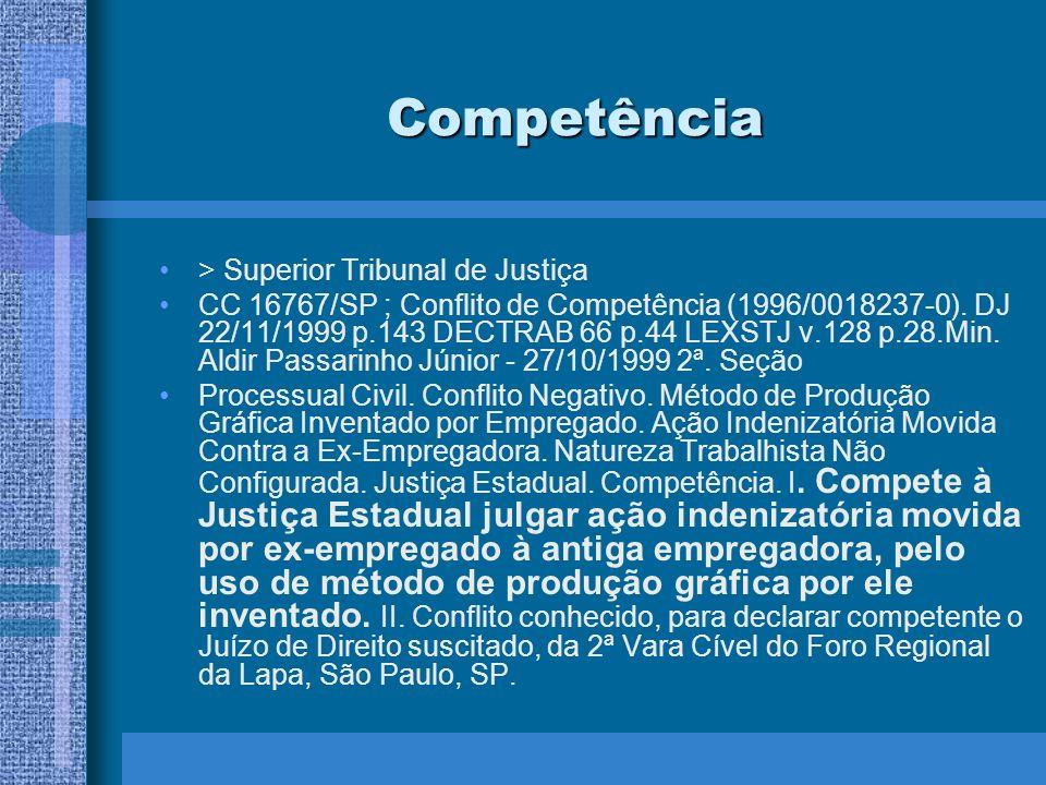 Competência > Superior Tribunal de Justiça