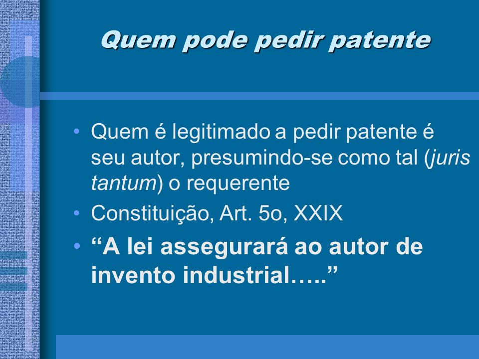 Quem pode pedir patente