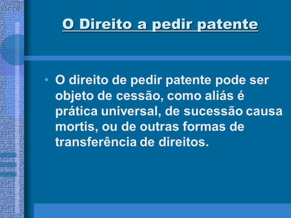 O Direito a pedir patente
