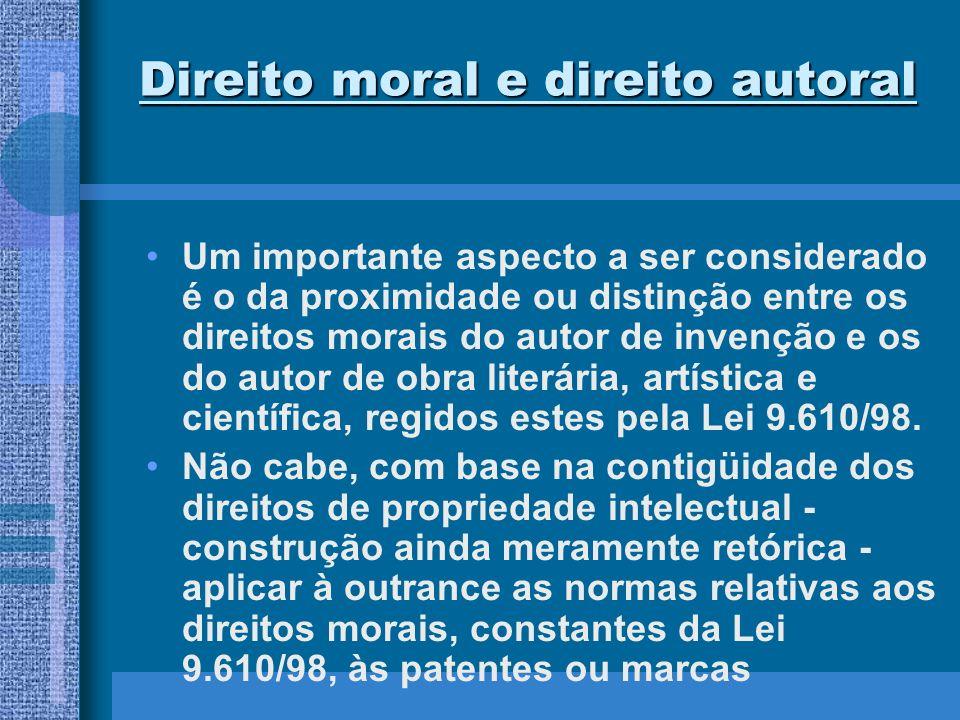 Direito moral e direito autoral