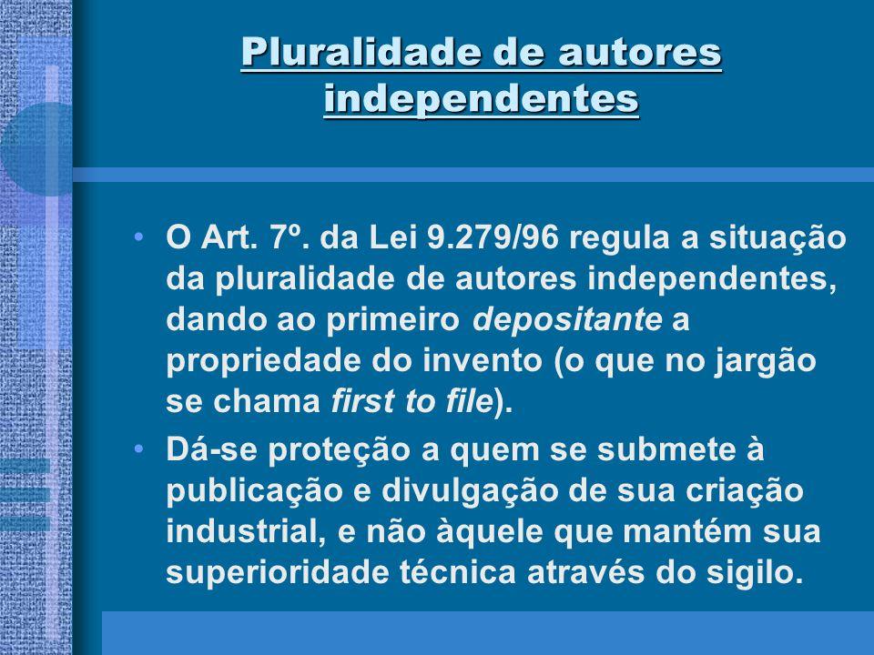 Pluralidade de autores independentes
