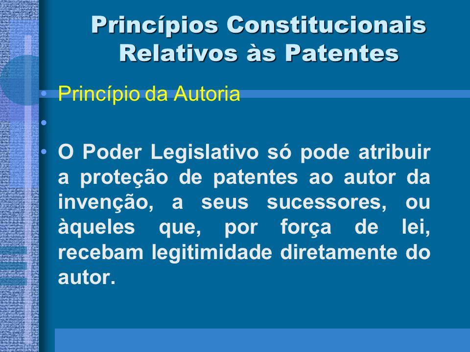 Princípios Constitucionais Relativos às Patentes