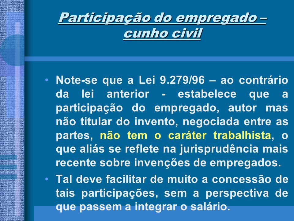 Participação do empregado – cunho civil