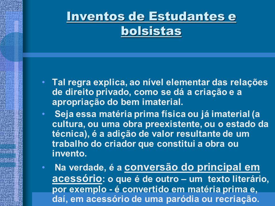 Inventos de Estudantes e bolsistas