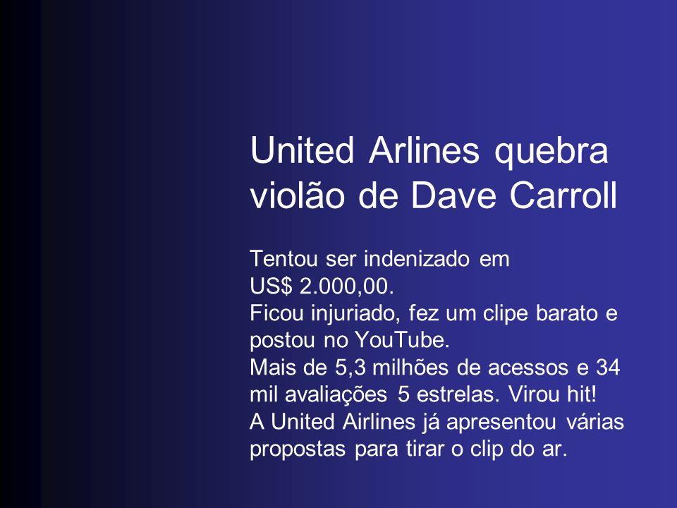 United Arlines quebra violão de Dave Carroll