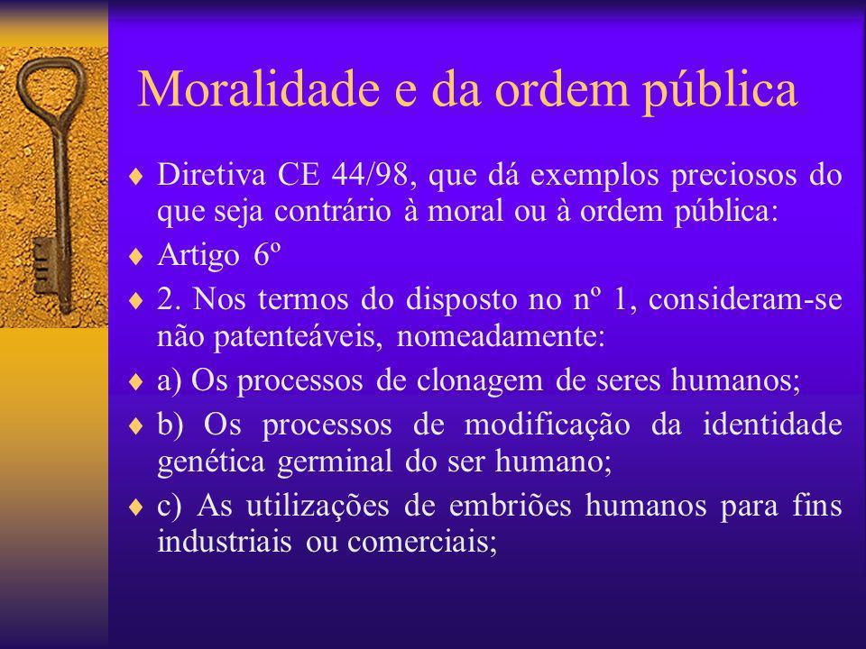 Moralidade e da ordem pública