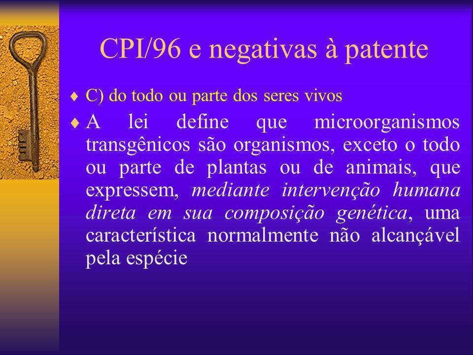 CPI/96 e negativas à patente