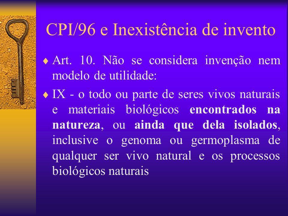 CPI/96 e Inexistência de invento