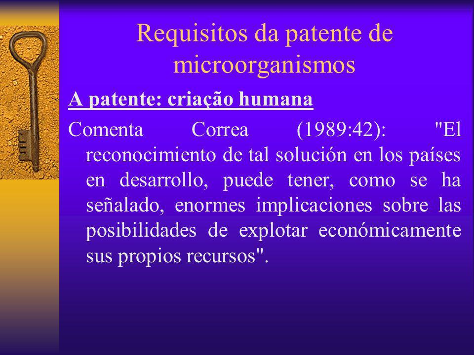 Requisitos da patente de microorganismos