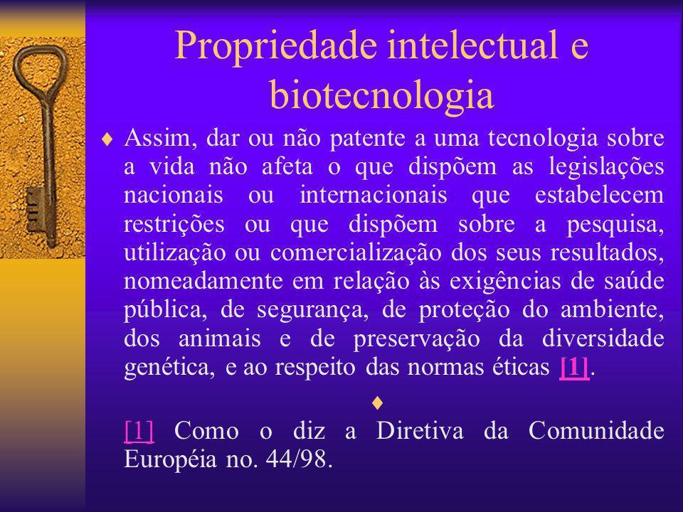 Propriedade intelectual e biotecnologia