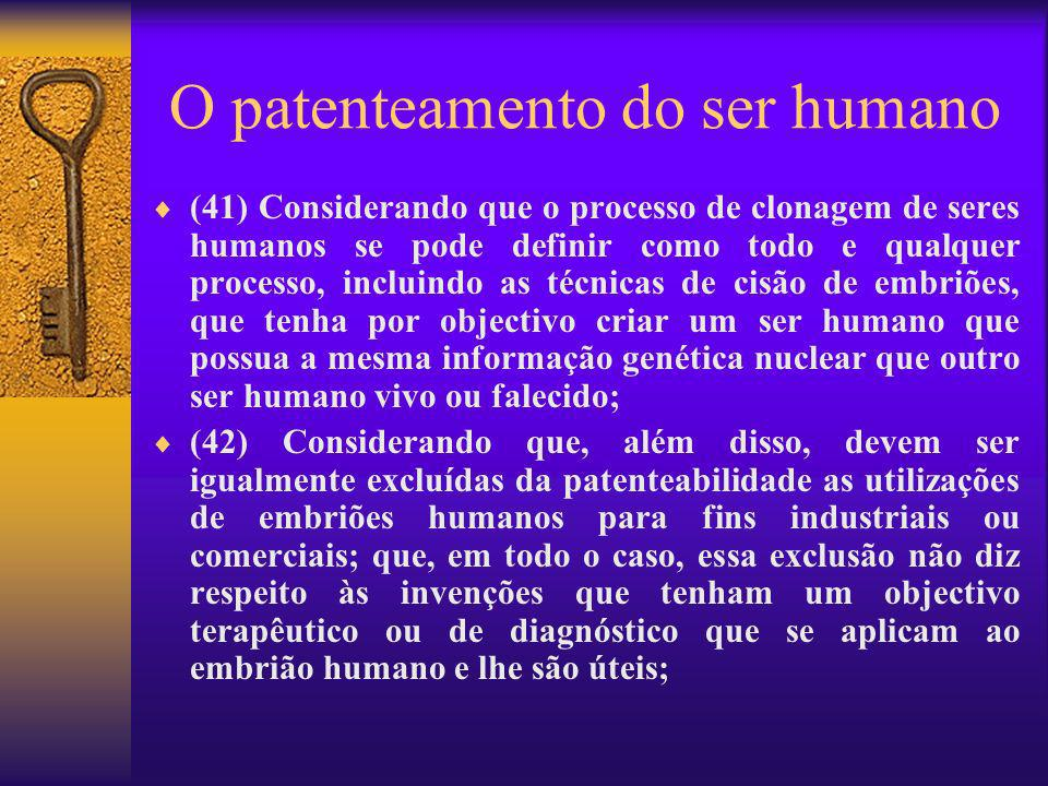 O patenteamento do ser humano
