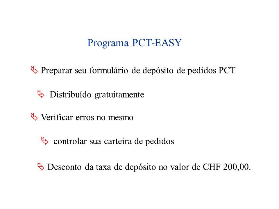 Programa PCT-EASY  Preparar seu formulário de depósito de pedidos PCT
