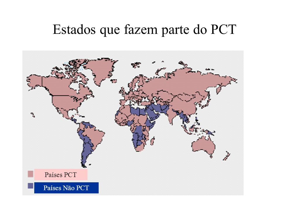 Estados que fazem parte do PCT