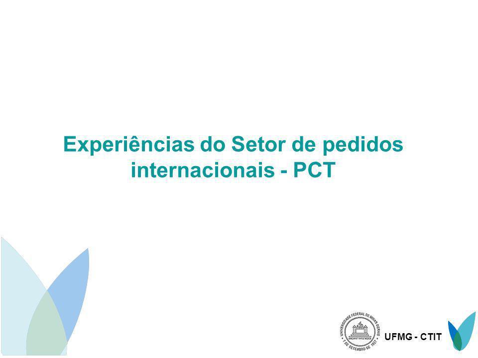 Experiências do Setor de pedidos internacionais - PCT