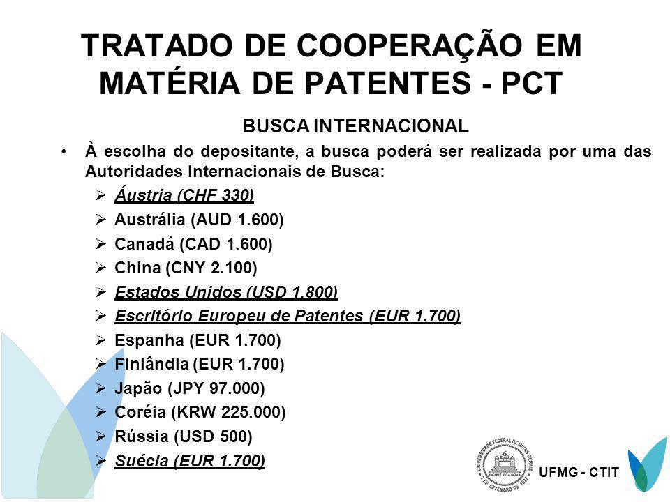 TRATADO DE COOPERAÇÃO EM MATÉRIA DE PATENTES - PCT