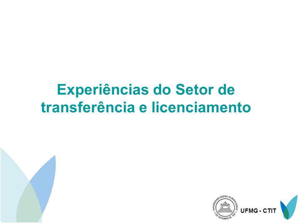 Experiências do Setor de transferência e licenciamento