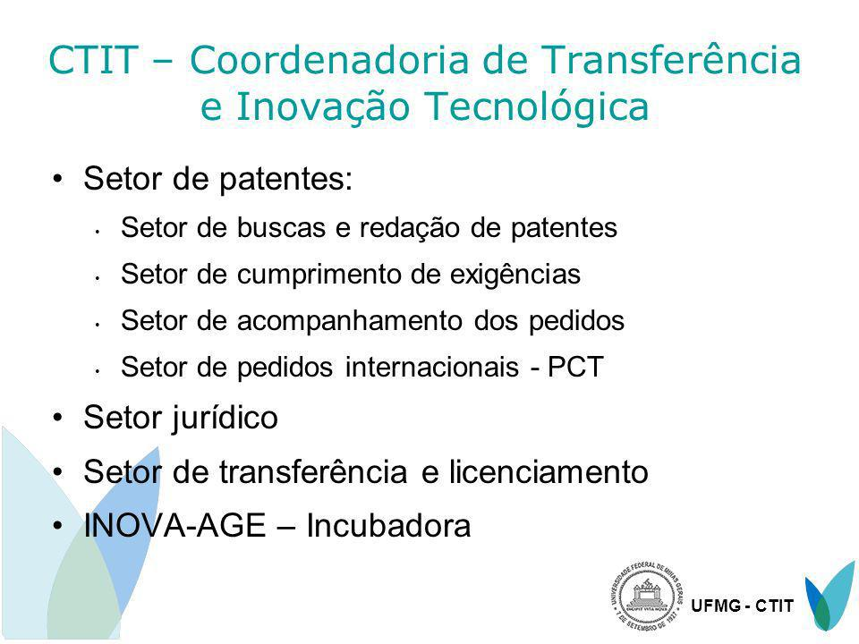 CTIT – Coordenadoria de Transferência e Inovação Tecnológica